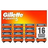 Gillette Fusion 5 Cuchillas de Afeitar Hombre, Paquete de 16 Cuchillas de Recambio (El Diseño Exterior del Paquete Puede Variar)