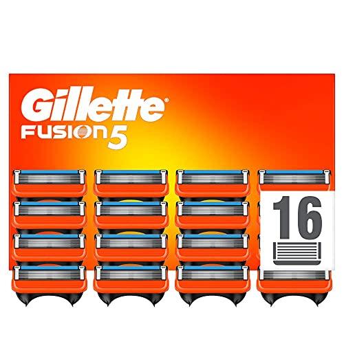 Gillette Fusion 5 Cuchillas de Afeitar Hombre, Paquete...