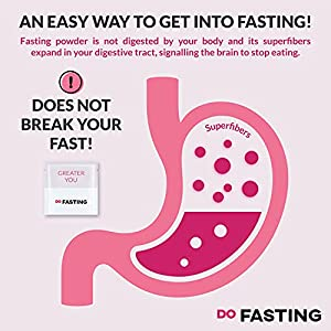 DoFasting Box Fiber Supplement - Intermittent Fasting Powder - Fiber Powder Nutritional Supplements with Glucomannan & Cellulose (30 Pouches)