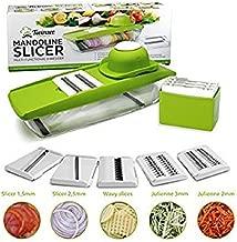Kriva Mandoline Vegetable Slicer, Food Slicer and Fruit Cutter - Green Color