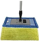 Microfiber Pocket Mop Kit: 1) Blue 18' Pocket Mop, 1) Yellow 18' Pocket Mop, 1) 72' Aluminum Extension Handle & 1) 16' Pocket Mop Frame