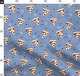 Pizza, Salami Pizza, Italienisch, Fast Food Stoffe -