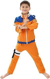 Costume Genin pour Les Petits Fans de Naruto | Costume Enfant de Ninja Uzumaki | Taille: 120