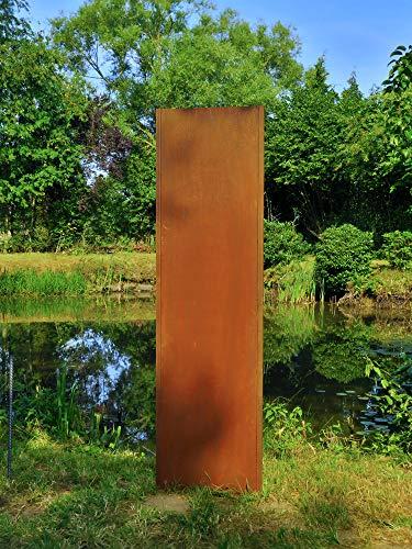 Gartenwand Sichtschutz Blanko rost Stahl 54x195 cm