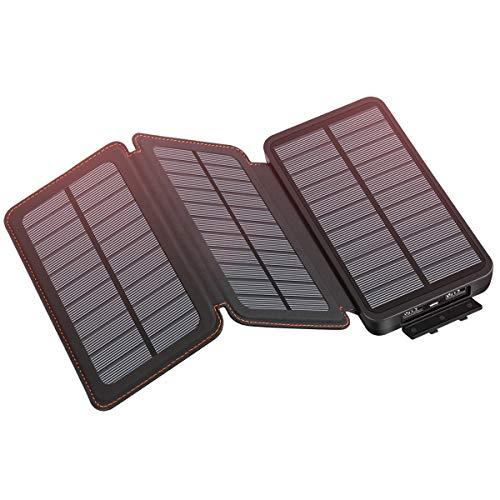 Hiluckey Solarladegerät, 24000 mAh, tragbar, mit Dual-USB-Ausgang, hohe Kapazität, Solarakku, kompatibel mit Allen Handy-Modellen und Tablets, für den Außenbereich, wasserdicht, staubdicht, stoßfest