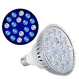 zhuangyif 54W UV IR LED Crece la lámpara Bulbo luz del Acuario Peces de iluminación LED del Tanque de Pescados de Agua Salada Marina Coral Reef sumidero Alga (Color : 12 Blue 6 White)