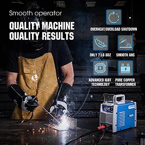YESWELDER ARC Welder 205Amp Digital Inverter IGBT Stick MMA Welder,110V/220V Dual Voltage Hot Start Portable Welding Machine