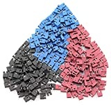 TOTOT 300PCS 2.54mm Standard Pin Header Jumper Cap Short Connection Block Circuit Board Shunts Short Circuit Cap for Hard Drive CD DVD Motherboards DIY Accessories Black Red Blue