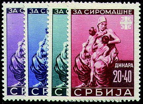 Goldhahn Deutsche Besetzung Serbien Nr. 82-85 postfrisch Briefmarken für Sammler