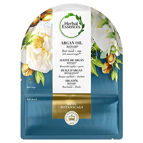 Herbal Essences Mascarilla Capilar + Gorro 20ml Aceite de Argán Reparador, en Colaboración con el Real Jardín Botánico de KEW