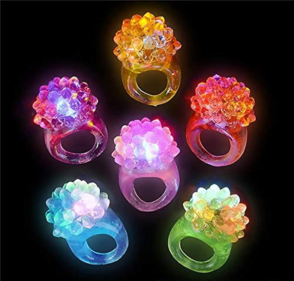 Rhode Island Novelty Light-up Bumpy Rings | Pack of 36