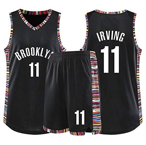 LLZYL Baloncesto Jersey - NBA Kyrie Irving # 11 Traje Adulto De Brooklyn Nets Niños Jersey, Transpirable Tela Alero, Baloncesto Tops Y Pantalones Cortos