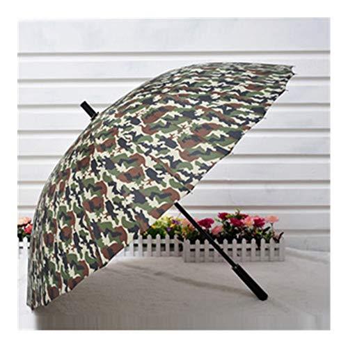 ManYHM 24 Knochen super große Winddichte Tarnung gerader Regenschirm individuelle kreative Business-Geschenk Werbe-Dach Mode (Farbe : 003, Size : 63.5 * 24K)