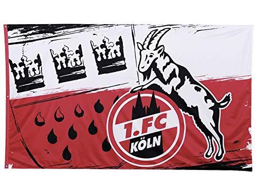 1. FC Köln Fahne/Hissfahne 150x250 cm  Wappen