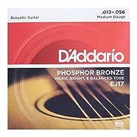 D'Addario ダダリオ アコースティックギター弦 フォスファーブロンズ Medium .013-.056 EJ17 【国内正規品】