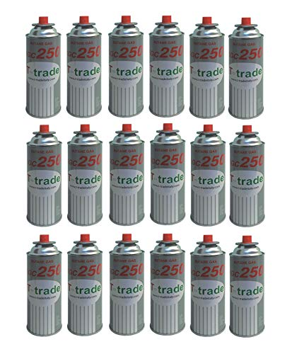 ALTIGASI Lot de 18 Cartouches de gaz GPL 250 g KCG250 Fer à souder idéal pour cheminée ou cuisinière Bistro Compatible Campingaz CP250 Brunner