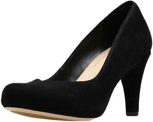 Clarks Dalia Rose, Chaussures de Ville à Lacets pour Femme Noir Noir