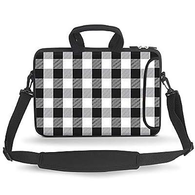 HAOCOO Stylish Art Ultraportable Water Resistant Neoprene Laptop Bag Sleeve Case with Padded Handle, Adjustable Shoulder Strap & External Side Pocket, Fits Various Laptops
