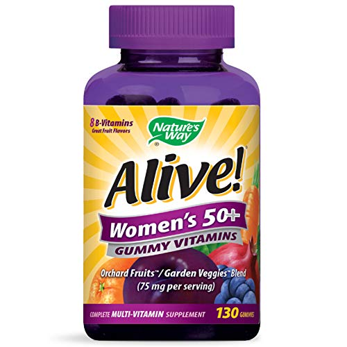 Nature's Way Alive! Women's 50+ Gummy Multivitamin, Full B Vitamin Complex, 130 Gummies