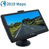 Jimwey GPS Navi Navigation für Auto LKW PKW KFZ 7 Zoll Navigationsgerät 8GB 256MB Lebenslang Kostenloses Kartenupdate POI Blitzerwarnung Sprachführung Fahrspurassistent EU UK 52 Karten