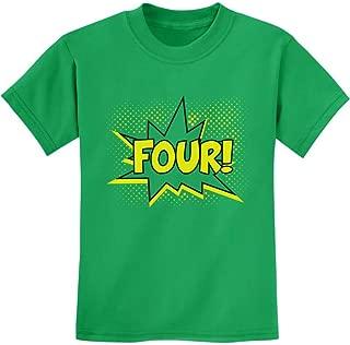 TeeStars - Four! Superhero Fourth Birthday - 4 Years Old Gift Idea Kids T-Shirt