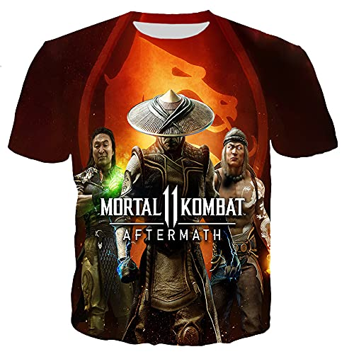 Mortal Kombat - Camiseta de manga corta con impresión 3D para niños y niñas