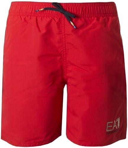 Emporio Arhommei Boxer Junior mer ou Piscine EA7 Article 906005 7P772 Sea World BW Core Boy Boxer Beachwear Mid