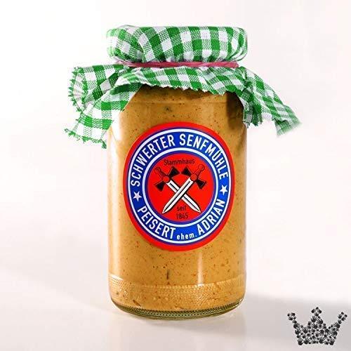Lebkuchensenf 185 ml Senf mit Lebkuchenaroma, Wintersorte, ohne Zusatzstoffe & ohne Geschmacksverstärker - Bremer Gewürzhandel