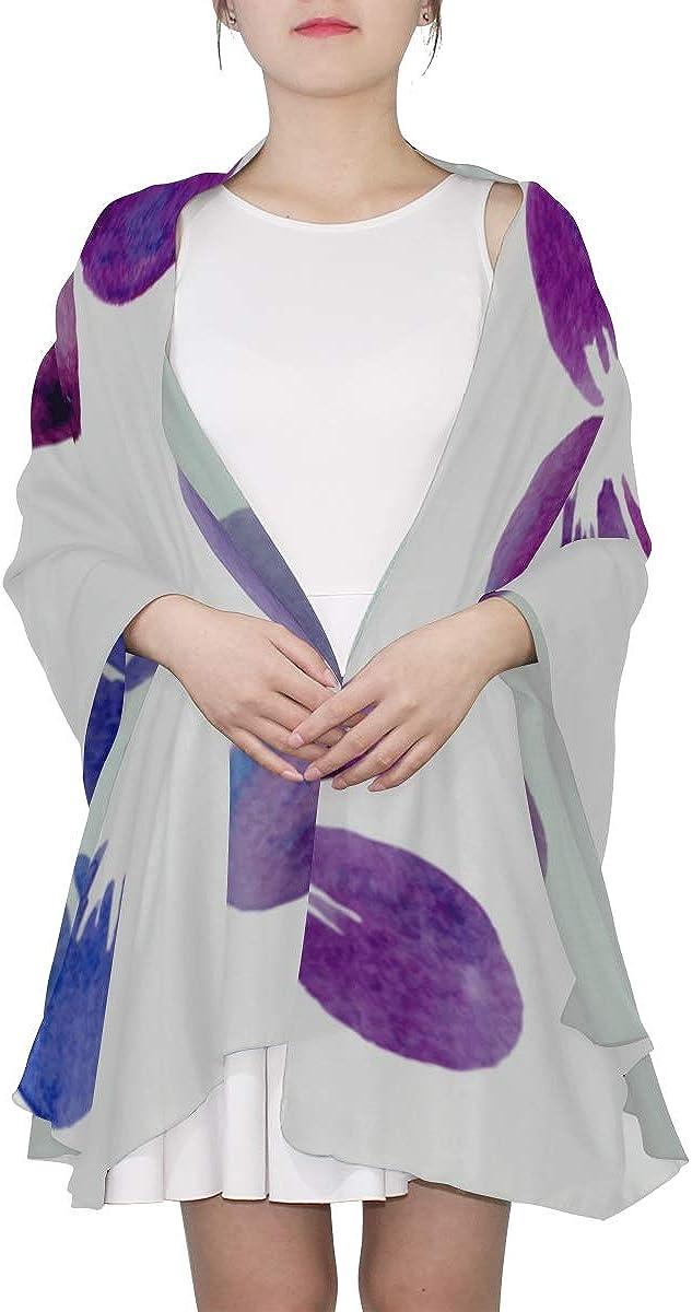 Scarf Unisex Violet Flower Purple Lightweight Scarf Girls Shawl Wrap Lightweight Print Scarves Fashion Lightweight Scarf Lightweight Fashion Scarfs For Women