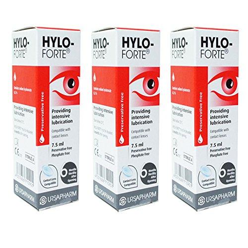 Hylo-Forte Intenso Lubricante Gotas Para Ojos x 3 paquede TRIPLE