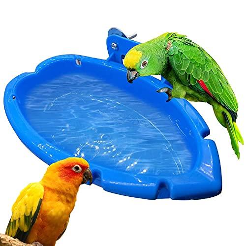 Vogel Badewanne Papagei Badewanne Hängen Feeder Schüssel Klein Papagei Dusche Bad Kleine Vogelbad Box Dusche Vogelkäfig Zubehör Für Vögel Papageien Wellensittiche Sittich Fink 18 x 10 x 4 cm Blau