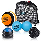 Invincible Fitness Therapy Massage Balls Set, Trigger Point Ball,...
