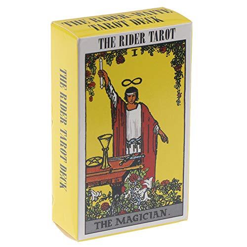 78 Hojas Oracle Tarjetas Solitaire, Principiantes El Drider Tarot Deck, Conjuntos de Tarjetas de Game Future Future Future Divination, Versión en inglés