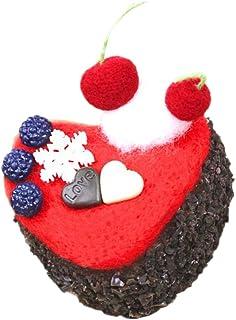 chiwanji ニードルフェルトキット お菓子 おかし ケーキ 羊毛 フェルトキット 全5タイプ - 黒い森のケーキ