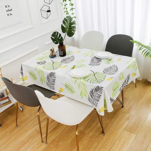 N/A MPDF Home Decoration Esstischdecke Couchtisch PVC-Tischmatte Wasserdicht Ölfeste Plastiktischdecke Plaid Tischdecke Staub - Proof Cover Handtuch Waschtisch 100x150cm