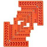 amtovl set 10pz squadra di posizionamento 90° per carpentiere 4x3 4x4 2x6 morsetto angolare a l in plastica per lavorazione legno 10x morsetti ad angolo retto per cornici di quadro armadi cassetti