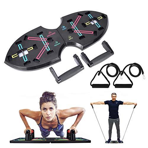 Thorityau Push Up Board/dispositivo de musculación plegable Push Up musculación multifunción, sistema de entrenamiento plegable para el gimnasio en casa