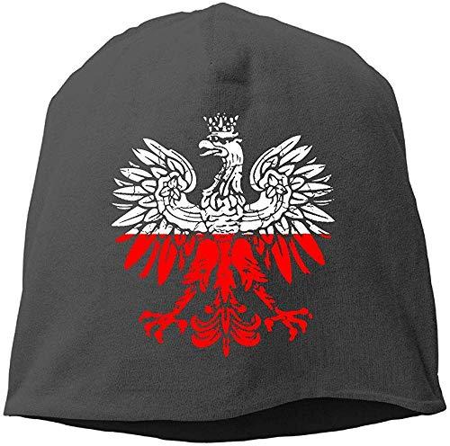Uosliks Polnische Flagge weißer Adler Distressed Wintermütze Schädel Mütze warm Stricken Ski Slouchy Hut langlebig