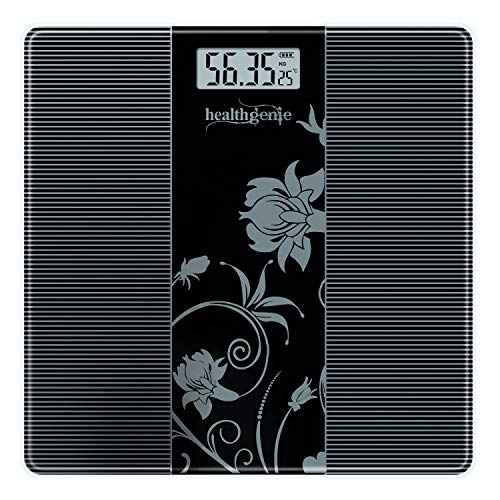 Healthgenie Thick Tempered Glass Lcd Display Digital Weighing Machine , Weight Machine For Human Body Digital Weighing Scale, Weight Scale, with 1 Year Warranty (HD-93).