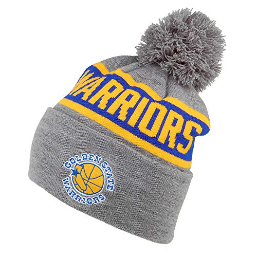 Mitchell & Ness Gorro con pompón NBA Team Tone Knit Golden State Warriors Gris-Azul - Talla única
