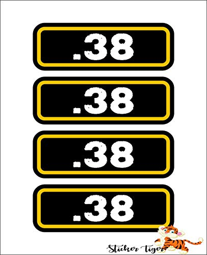 (4) .38 Ammo Can Box Sticker Special Set Decal Molon Labe Bullet 38 Type 2 Car Decal Sticker Vinyl American USA Merica United States Helmet Toolbox Hardhat
