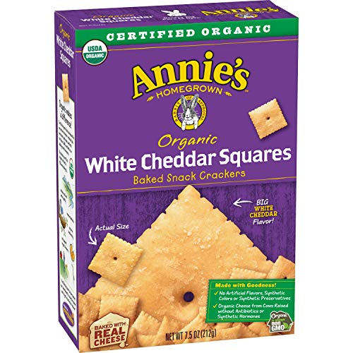Annie's Organic White Cheddar Squares Baked Snack Crackers 7.5 oz