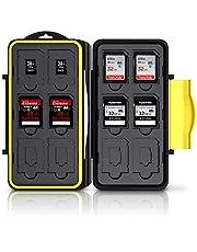 Deyard K020 geheugenkaarthouder, waterbestendig, schokbestendig, 24 plaatsen voor 12 SDHC- / SDXC-kaarten en 12 micro-SD-kaarten; verbeterde rubberen afdichting.