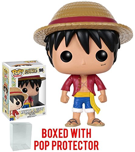 Funko Pop! Anime: One Piece - Monkey D. Luffy Vinyl Figure (Bundled with Pop Box Protector CASE)