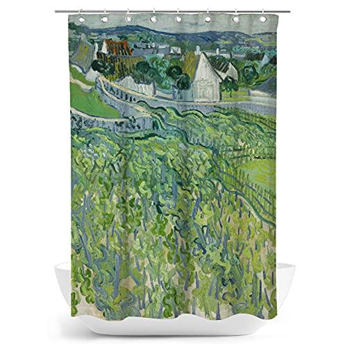 fotobar!style Duschvorhang 140 x 200 cm Vincent Van Gogh - Weinberge in Auvers. 1890