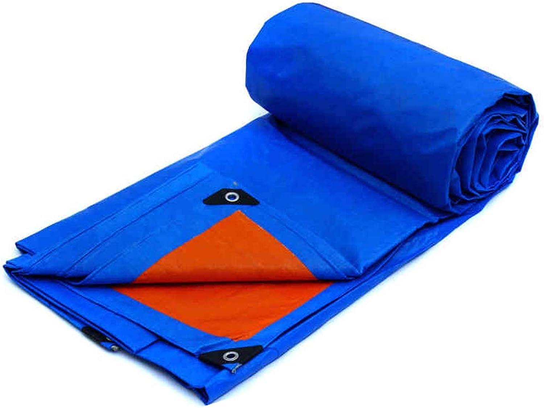 GZW001 Doppelseitige wasserdichte Plane, Sonnenschutzplanen-PVC-Material für Camping, Angeln, Gartenarbeit und Pet Board wasserdichte Markise wasserdichte Plane Bodenbelag, Blau Orange