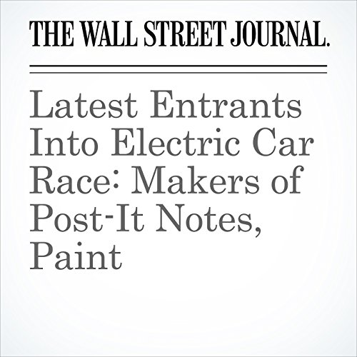 Latest Entrants Into Electric Car Race: Makers of Post-It Notes, Paint copertina