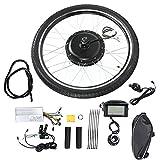 Caredy Kit de ebike + medidor LCD, 48V 1500W 26 '' Kit de conversión de Bicicleta eléctrica Ebike Ebike Hub Motor Kit de conversión Hub Motor Wheel Wheel Accesorios de Bicicleta Set(Volante)