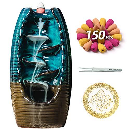 Quemador de Incienso de cerámica con 150 Conos, Soporte de
