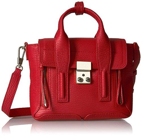 3.1 Phillip Lim Pashli Mini Satchel , red-nickel , One Size